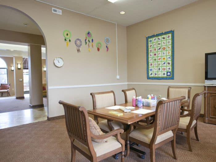 dining table at Pacifica Senior Living San Leandro in San Leandro, CA