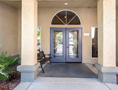 Club door at Pacifica Senior Living Regency in Las Vegas, NV