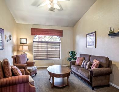 Beautiful living room at apartments in Las Vegas, NV