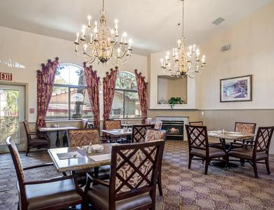 A dining room that is great for entertaining at Pacifica Senior Living Regency in Las Vegas, NV