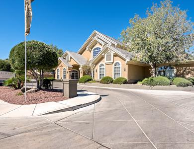 Beautiful apartments building at Pacifica Senior Living Regency in Las Vegas, NV