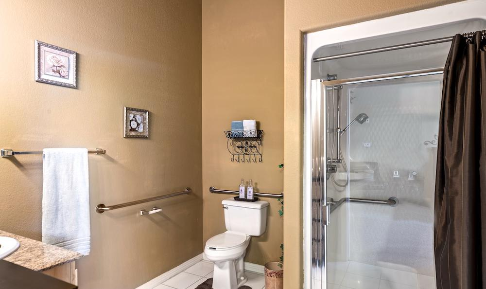 Spacious bathroom at Pacifica Senior Living Regency in Las Vegas, NV