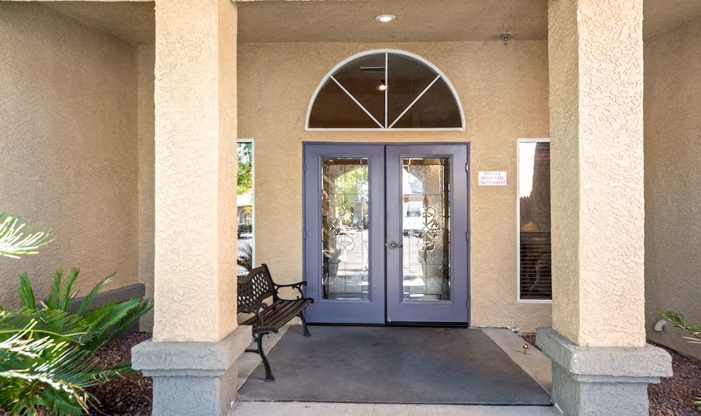 Beautiful door at Pacifica Senior Living Regency in Las Vegas, NV