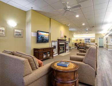 Pacifica Senior Living Portland in Portland, OR offers apartments with a fireplace