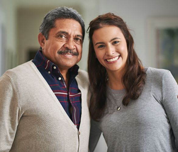 Happy Pacifica Senior Living: Riverside Legacies Memory Care resident and daughter