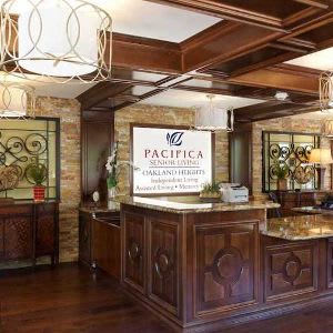 Pacifica Senior Living Oakland Heights interior entryway