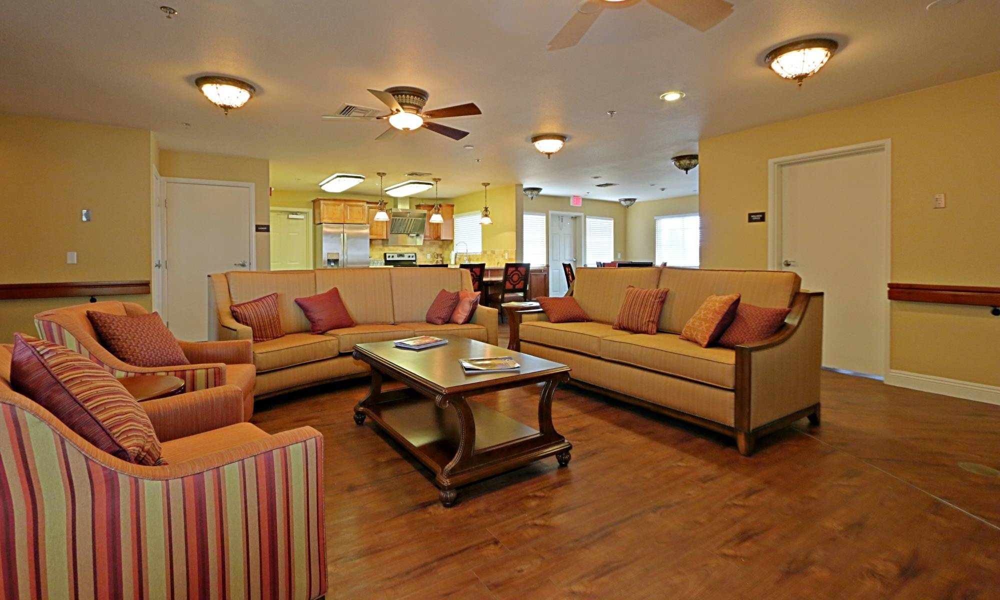 Gorgeous living room at Pacifica Senior Living Peoria