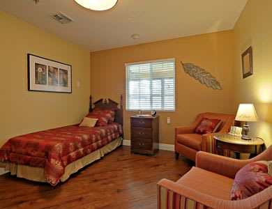 Bedroom at Pacifica Senior Living Peoria in Peoria, AZ