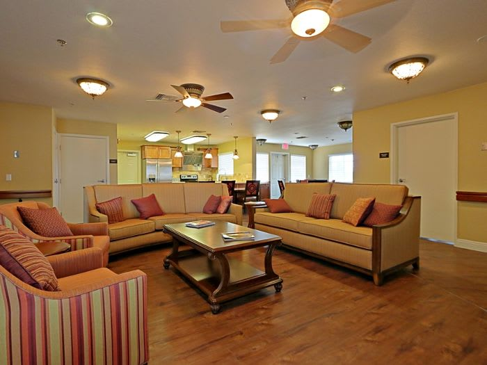 Our spacious living room at Pacifica Senior Living Peoria in Peoria, AZ