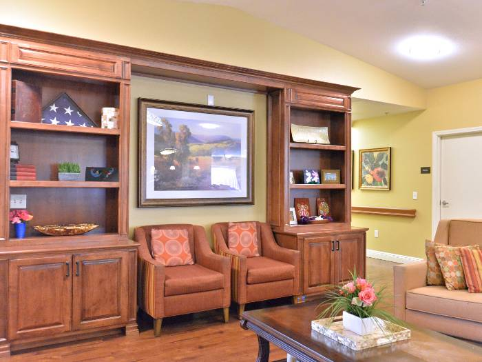 Cozy couches at Pacifica Senior Living Paradise Valley in Phoenix