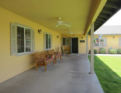 Relax outside anytime at Pacifica Senior Living Paradise Valley