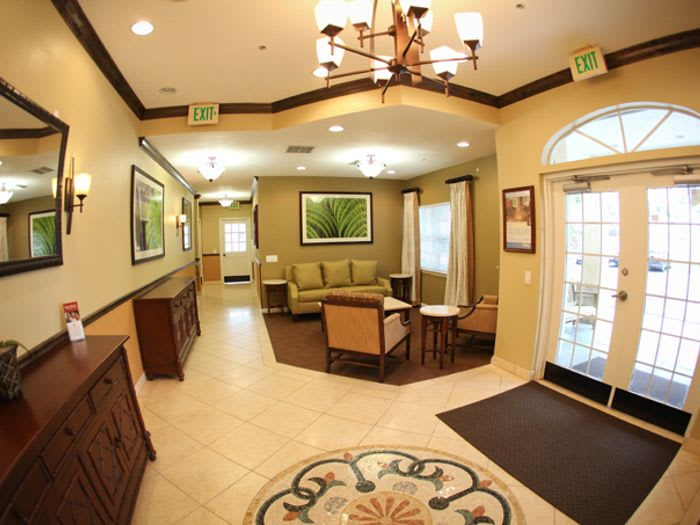 Lobby at Pacifica Senior Living Palm Beach