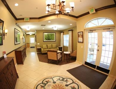 Lobby at Pacifica Senior Living Palm Beach