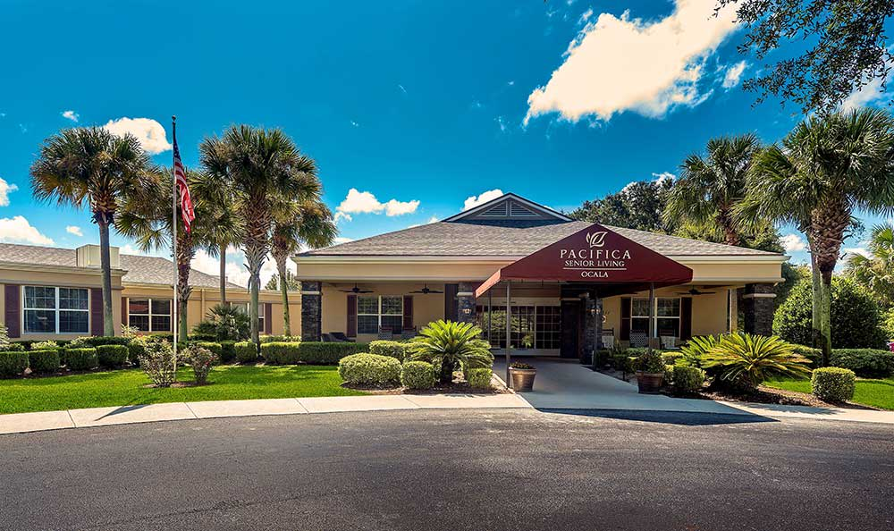 main entrance at Pacifica Senior Living Ocala