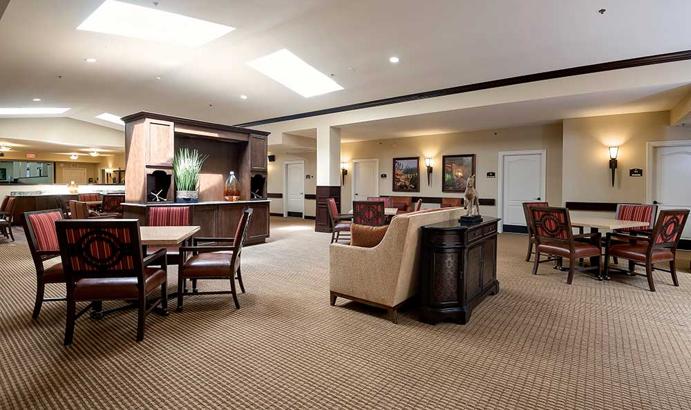 community area at Pacifica Senior Living Ocala
