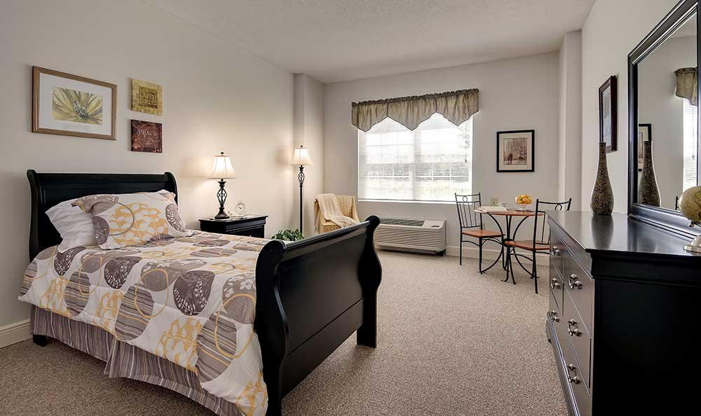 spacious bedroom at Pacifica Senior Living Ocala