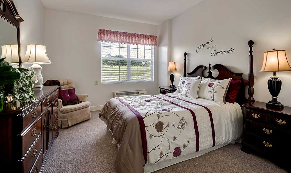 Bedroom at Pacifica Senior Living Ocala