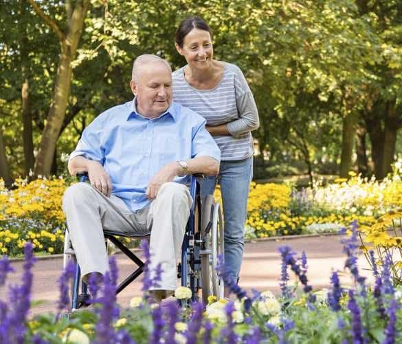 Happy couple at Scottsdale Village Square, A Pacifica Senior Living Community