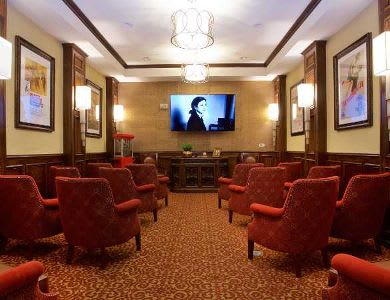 Cinema room at Pacifica Senior Living Oakland Heights