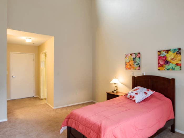 Feel at home in your new Pacifica Senior Living Northridge bedroom
