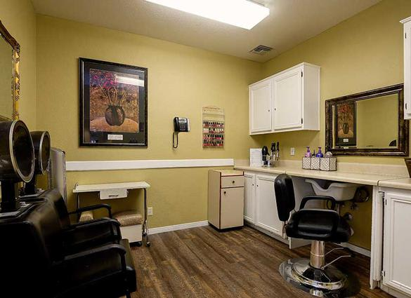 Salon at Pacifica Senior Living Newport Mesa in Costa Mesa, CA