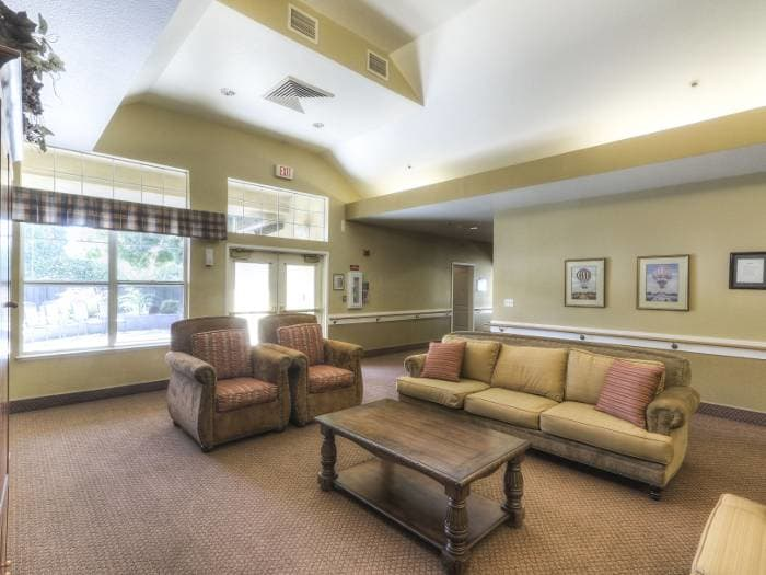 Ample lounge at Pacifica Senior Living Modesto in Modesto