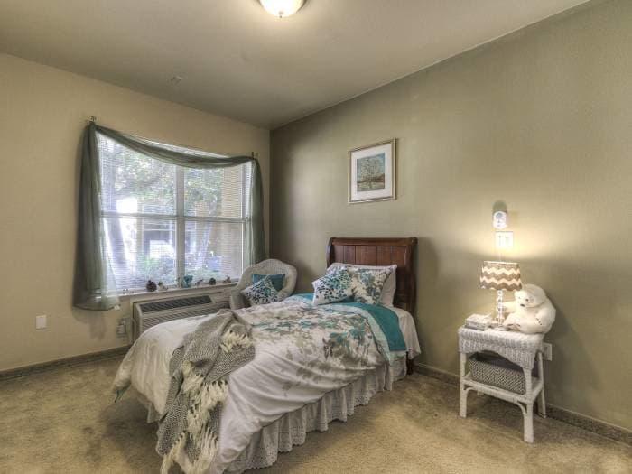 Pacifica Senior Living Modesto bedroom in California