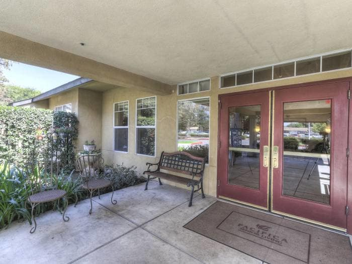 Pacifica Senior Living Modesto entrance in California