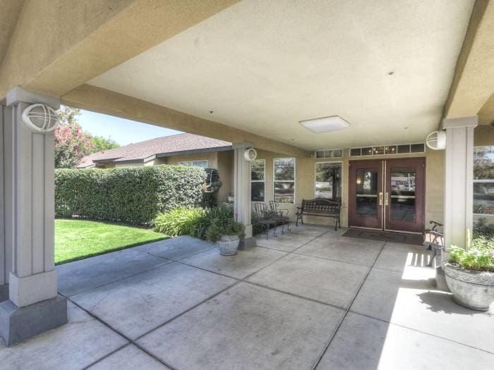 Entrance at Pacifica Senior Living Modesto in Modesto