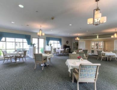 Dinner room at Pacifica Senior Living Mission Villa