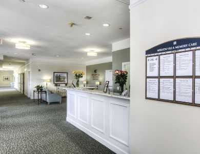 office waiting room at Pacifica Senior Living Mission Villa