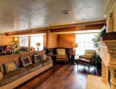 Spacious living room at Pacifica Senior Living Millcreek