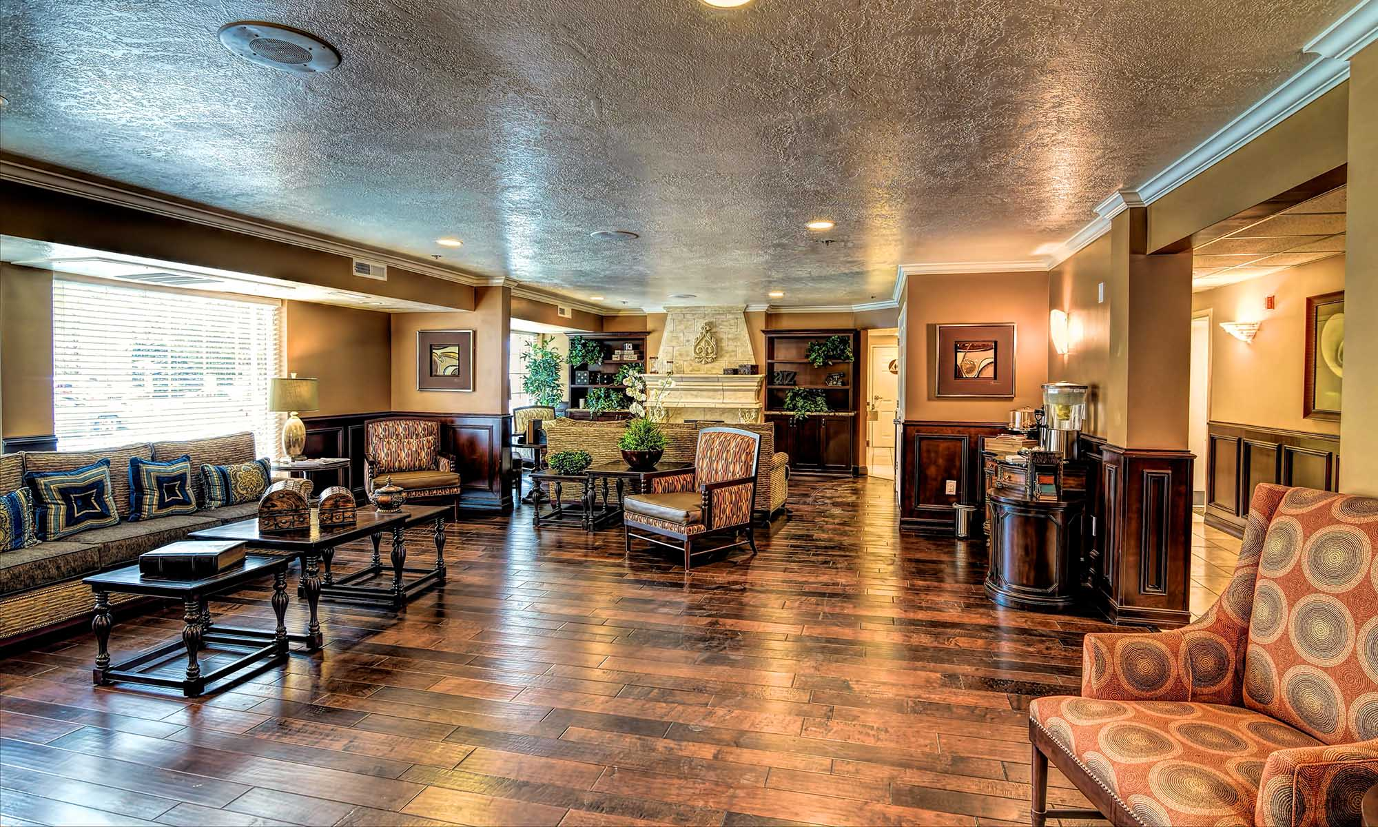 Lobby at Pacifica Senior Living Millcreek