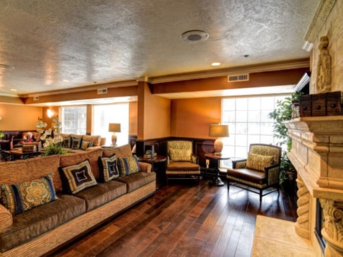 Spacious living room at Pacifica Senior Living Millcreek in Salt Lake City, UT