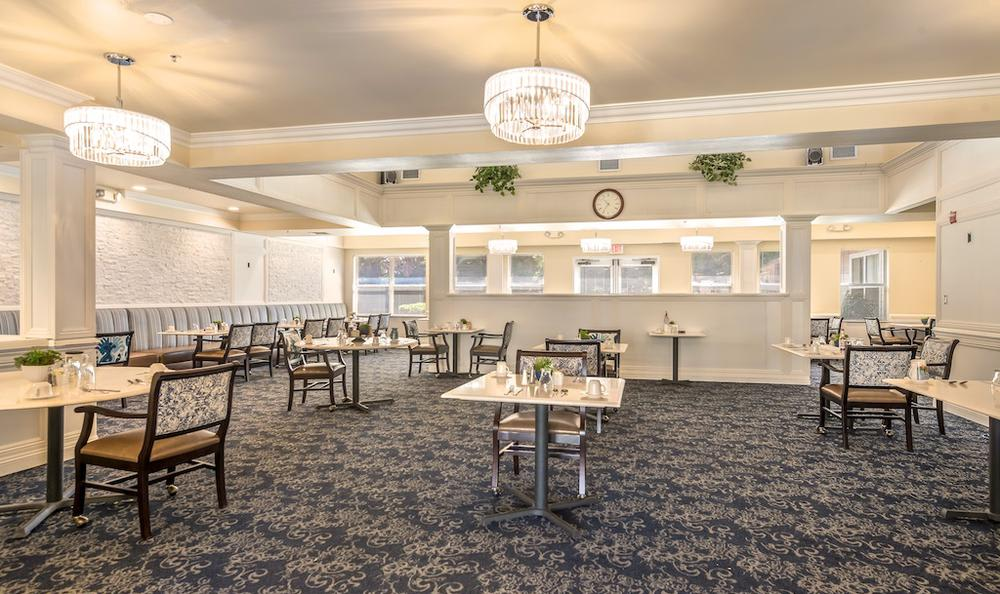 Spacious dining room at Pacifica Senior Living Merced in Merced, CA
