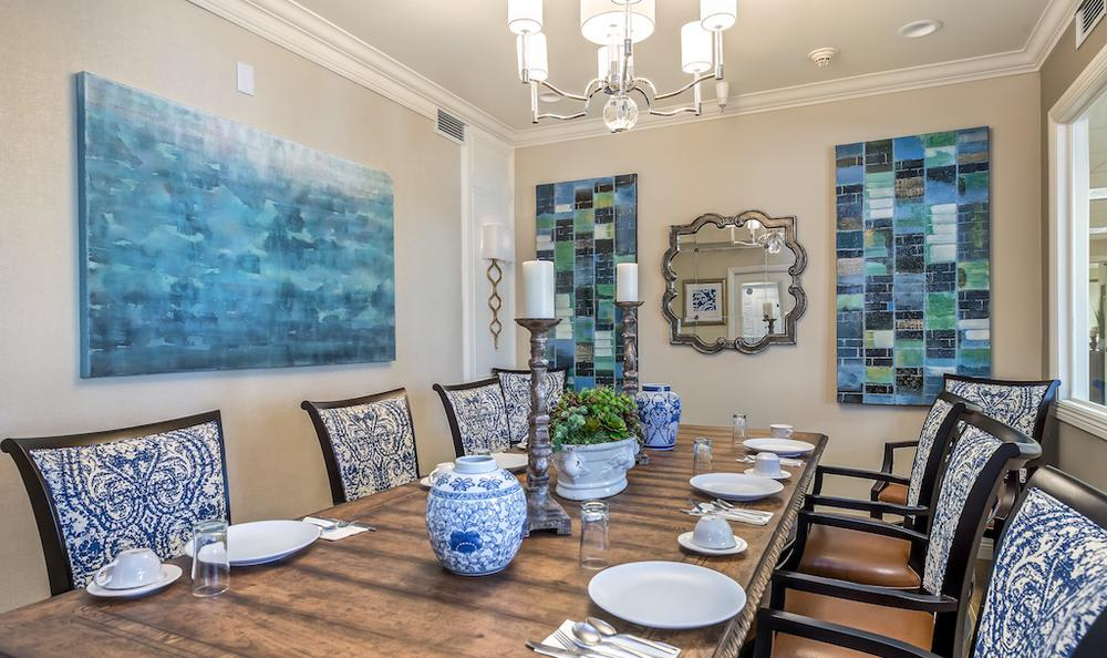 Unique dining room at apartments in Merced, CA