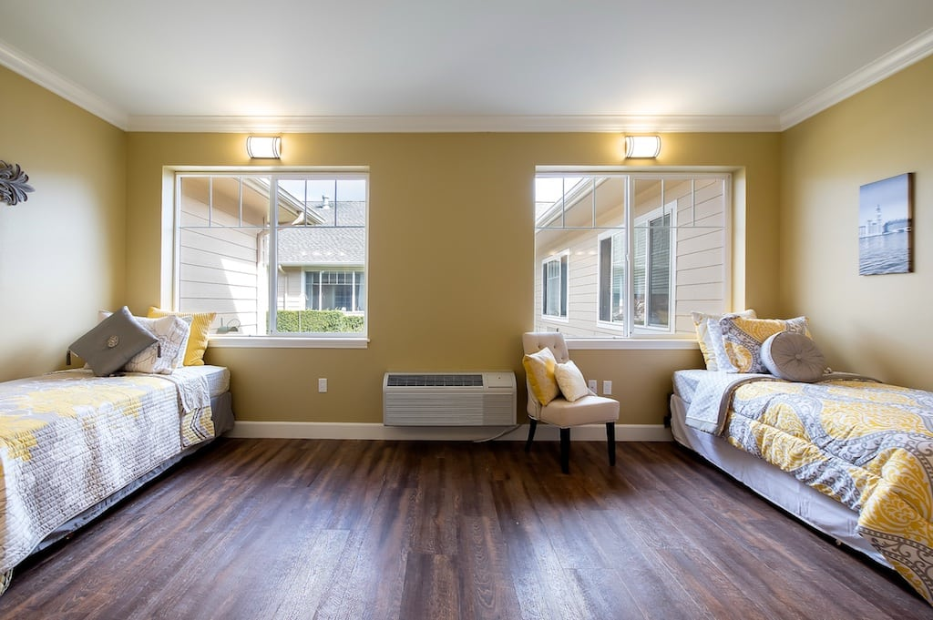 Shared suite bedroom. Pacifica Senior Living McMinnville