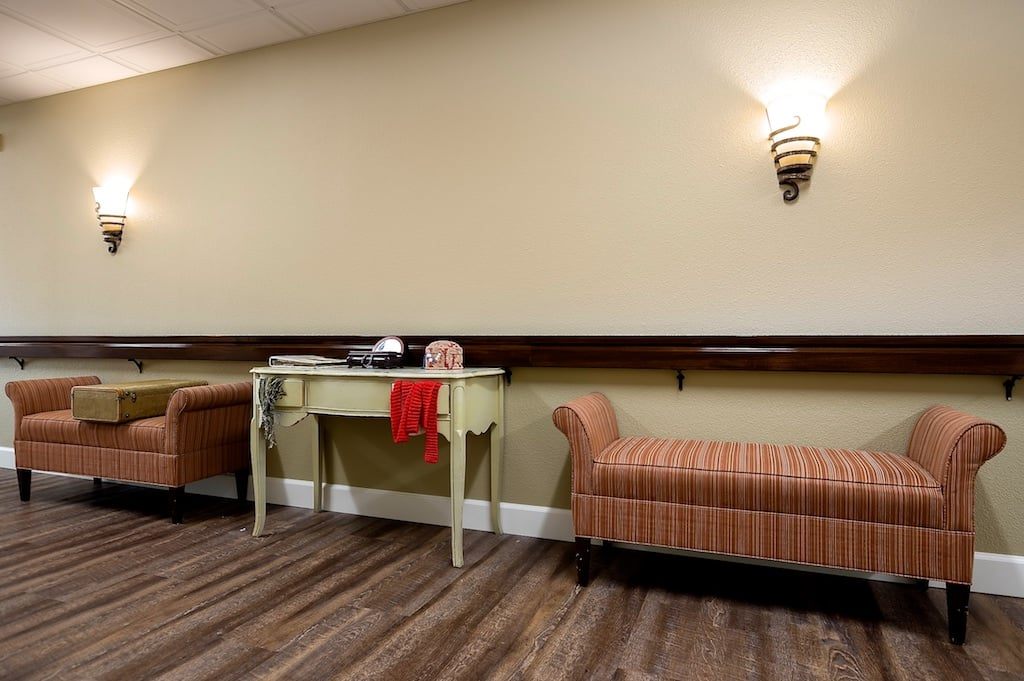 One of many lounge areas at Pacifica Senior Living McMinnville