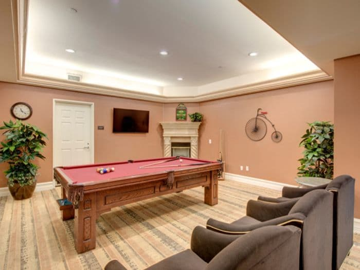 Game room at Pacifica Senior Living Hillsborough