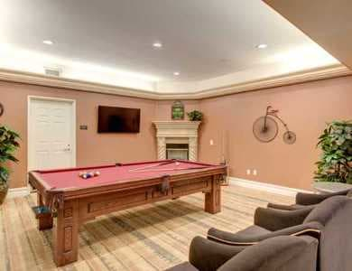 Game room in Pacifica Senior Living Hillsborough