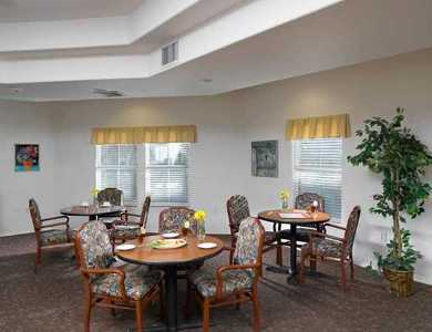 Beutiful dinning at Pacifica Senior Living Green Valley