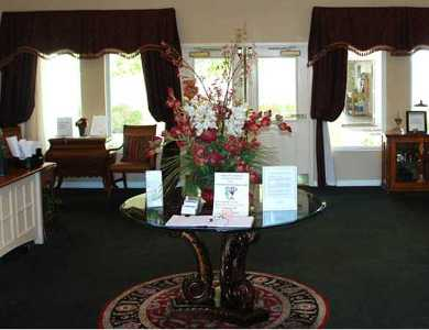 Front desk welcome you to Pacifica Senior Living Green Valley