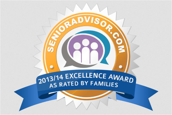 Excellence award to Pacifica Senior Living Escondido