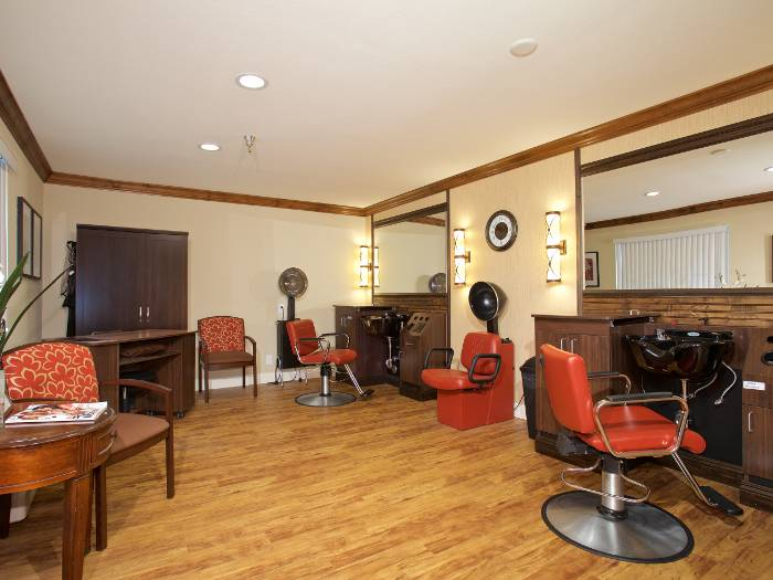 Beauty salon for our residents at Pacifica Senior Living Escondido