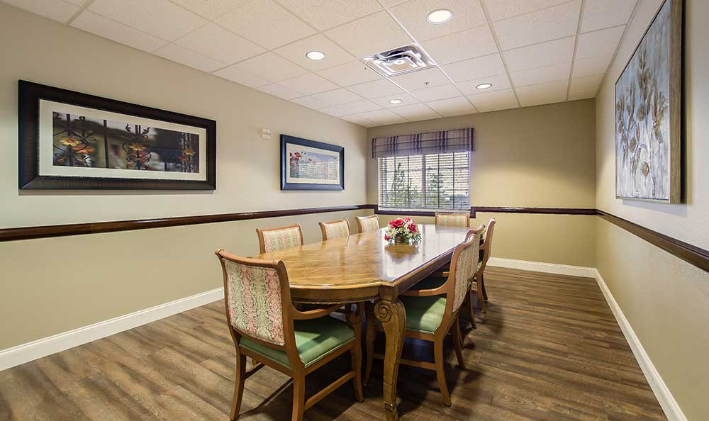 Private dining rooms available at Pacifica Senior Living Country Crest