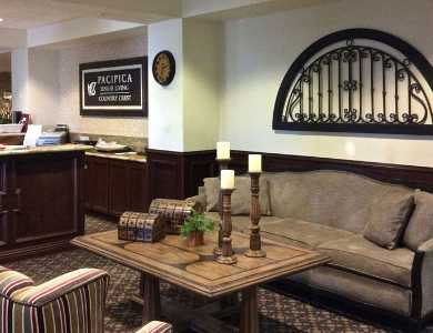 Beautiful lobby at Pacifica Senior Living Country Crest