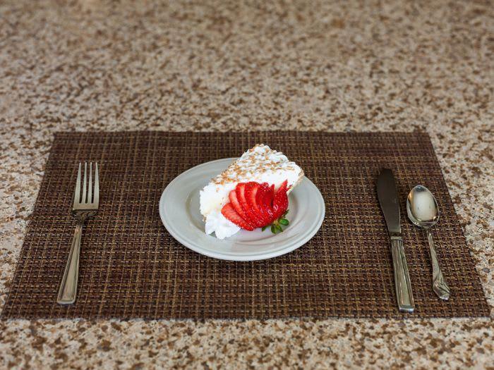 dessert for senior living resident at Pacifica Senior Living Coeur d'Alene in Coeur d'Alene, ID