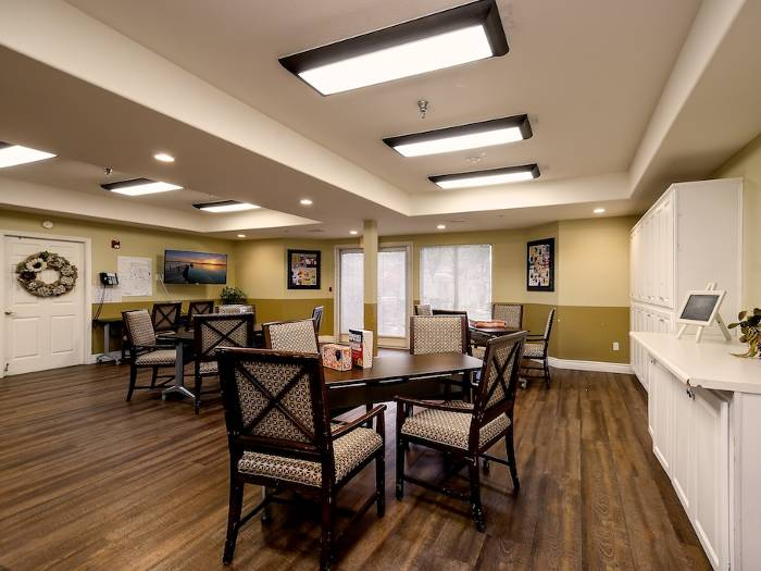 Dining area at Pacifica Senior Living Chino Hills in Chino Hills, CA