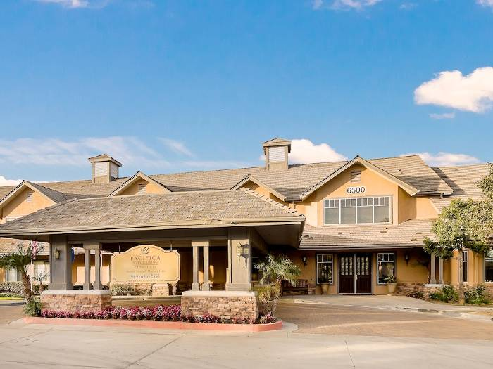 Entrance at Pacifica Senior Living Chino Hills in Chino Hills, CA