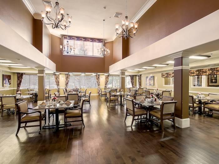 Pacifica Senior Living Chino Hills community dining hall